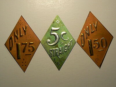 Antique Store Pricing Labels Tags  Made Of Pressed Tin #G4631