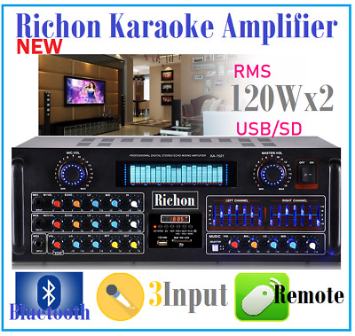 Richon Ka-1501 Professional Karaoke Audio Mixing Amplifier Usb & Bluetooth