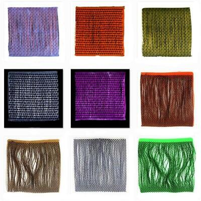 5 colors Grizzly Barred Rubber Legs 0.8mm fly tying materials 200strands/bundle