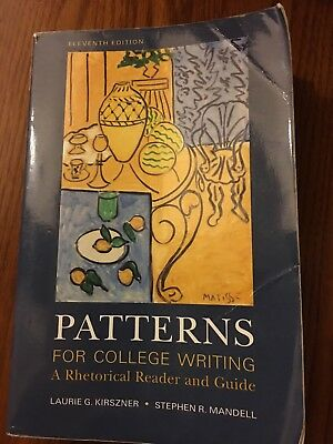 PATTERNS FOR COLLEGE Writing A Rhetorical Reader and Guide by Impressive Patterns For College Writing
