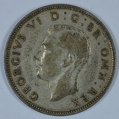 1937 Great Britain two shillings coin  Ships free