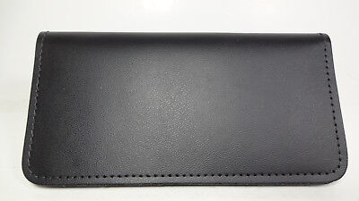 Bay State Exclusive Black Genuine Leather Standard Checkbook Cover-SAVE 10%