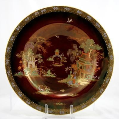 """Carlton Ware New Mikado 14.25"""" Wall Charger/bowl In Rouge Royale Glaze Mint"""