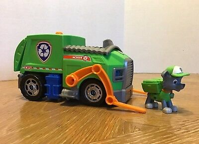 paw patrol rockys recycling truck vehicle figure spin master