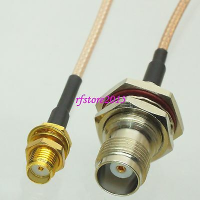 Cable RG316 6inch SMA female bulkhead to TNC female jack nut RF Pigtail Jumper