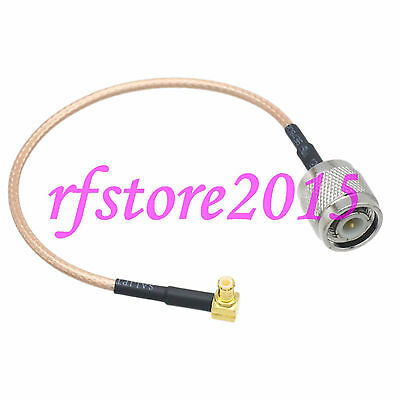 Cable RG316 6inch TNC male plug to MCX male plug right angle RF Pigtail Jumper