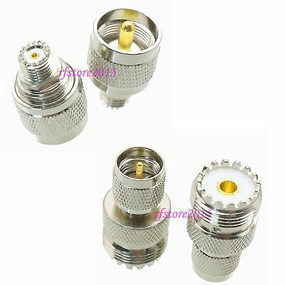 10pcs Adapter Connector UHF PL259 SO239 to miniUHF for Car radio