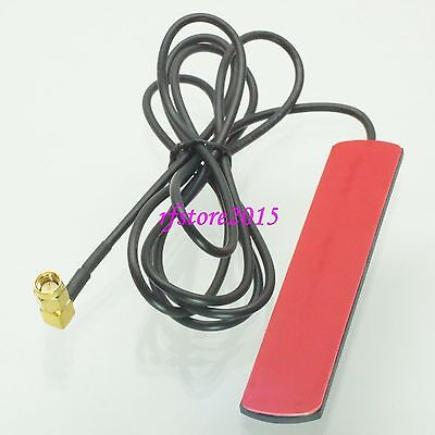 433MHZ 2.5dBi SMA male 90° GPRS GSM Adhesive DAB Patch Aerial Antenna for radio