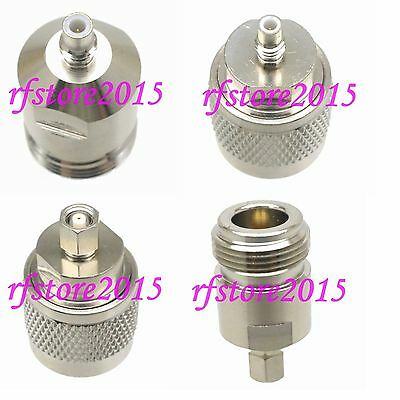 1pce Adapter Connector N to SMC straight for Communication RF COAXIAL