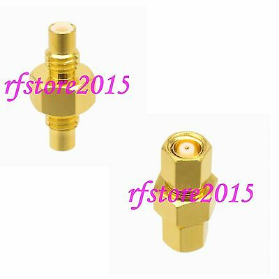 1pce Adapter Connector SMC to SMC straight for Communication RF COAXIAL