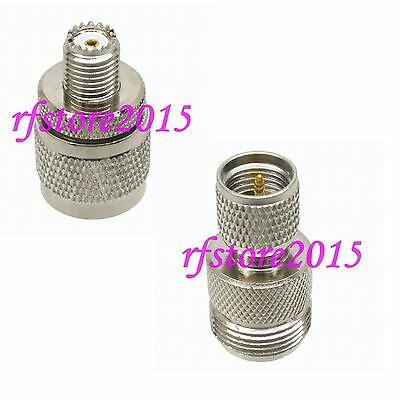 1pce Adapter Connector N to miniUHF straight for Communication RF COAXIAL