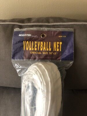 Volleyball Net Official Size 32' X 3', Martin Sports Model V25 , New In Package