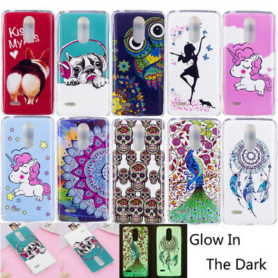 Luminous Glow In The Dark Fluorescence Soft TPU Case Cover For LG K8 K10 US 2017