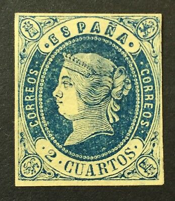 Spain stamps 1862 YV 55 UNUSED Hinged? A Very Fresh Clean Stamp X1/13
