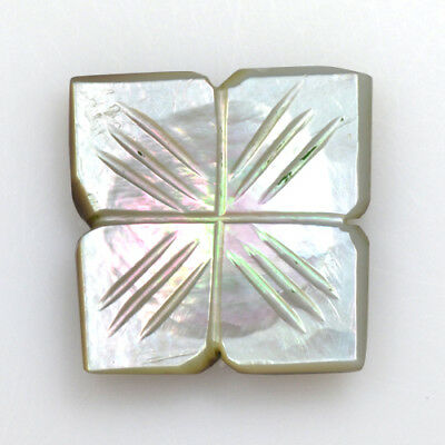Natural Mother Of Pearl Carving Loose Gemstone Bethlehem Israel 11.80 Cts Lovely