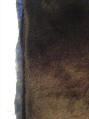 FAUX FAKE FUR~Chocolate Brown~3 7/8 yd~BEARS-COSTUMES-ANIMALS-CRAFTS