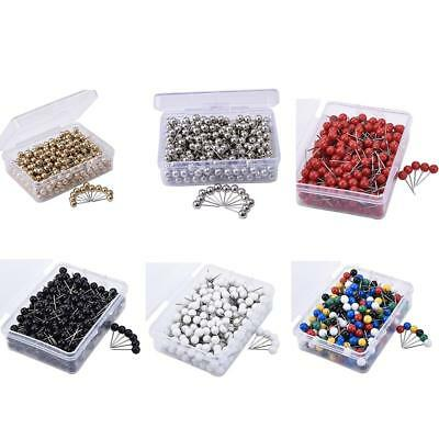300PCS Map Pin Metal Color Thumbtack Map Mark with 1/8 Inch Head and Steel Point