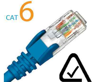 CAT6 Blue Patch Leads RJ45 0.3M - 20M Networking, Data, Ethernet
