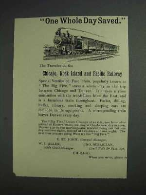 1892 Chicago, Rock Island And Pacific Railway Ad