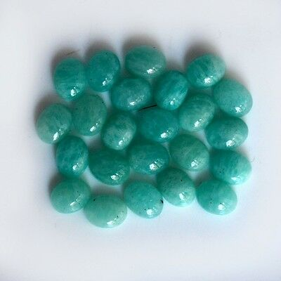 AAA Quality 15 Pc Natural Amazonite 7x9 mm Oval Plain Cabochon Loose Gemstone