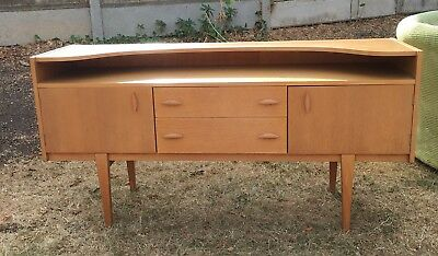 Mid Century Modern vintage 1950s Castle dressing table Sideboard Wood G Plan typ