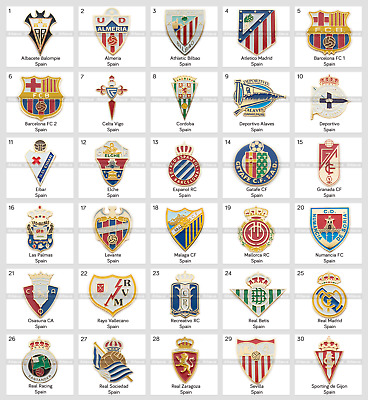 Metal Pin Spain Football Clubs European Soccer Athletic Barcelona Real Sevilla