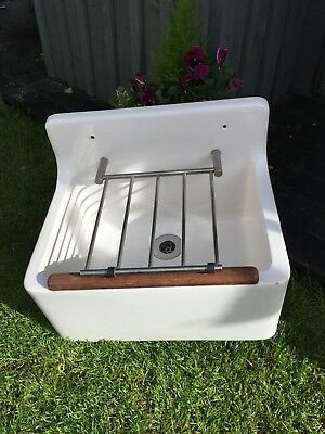 Antique  Butlers Cleaners Belfast Sink With Legs - All Original In Vgc
