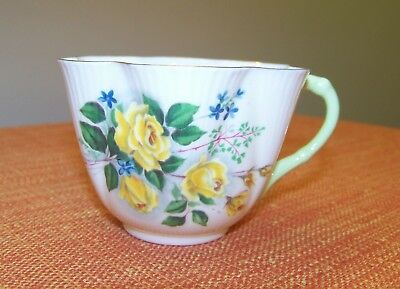 Beautiful SHELLEY Bone China Dainty CUP (only) Yellow Roses Made in England VGC
