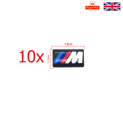 10 x BMW M Sport Performance Alloy Wheel Stickers Decals Badge GLOSS DOMED GEL