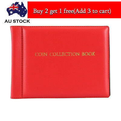 60 Coin Holders Collection Storage Penny Pockets Album Book Collecting AU TOP