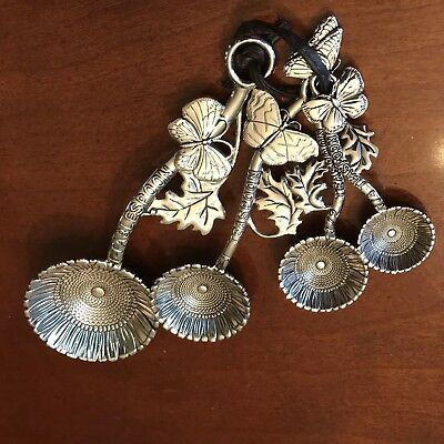 Ganz 4 pc. Decorative Measuring Spoon Set Sunflower And Butterfly Collectible