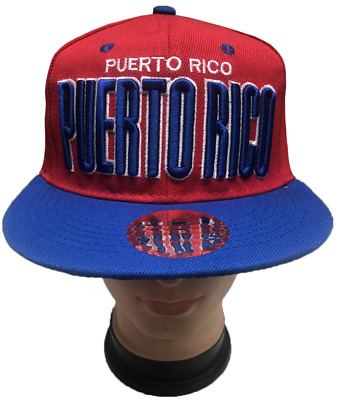 6366cd8a3b1c7 PUERTO RICO Snapback Flat Brim Adjustable Baseball Caps Hats LOT Wholesale  Price
