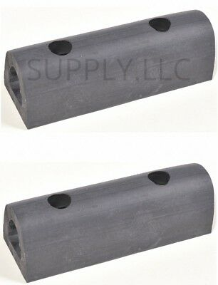 "LOADING DOCK BUMPERS (1-pair) 6"" Long Rubber Warehouse Truck Body Trailer Wall"