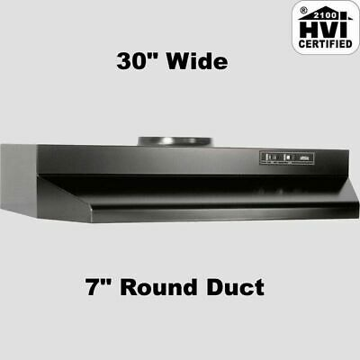 "BLACK OVER THE STOVE RANGE HOOD 30"" EXHAUST FAN Ducted Under Cabinet Kitchen"