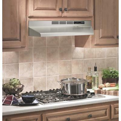 "STAINLESS OVER THE STOVE RANGE HOOD 30"" EXHAUST FAN Non-Ducted Under Cabinet"