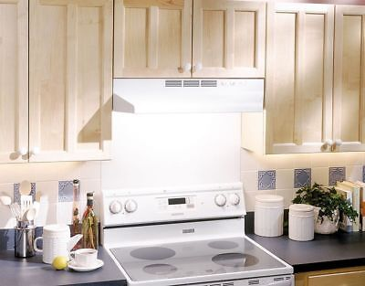 "24"" OVER THE STOVE RANGE HOOD WHITE Exhaust Fan Non-Ducted Under Kitchen Cabinet"