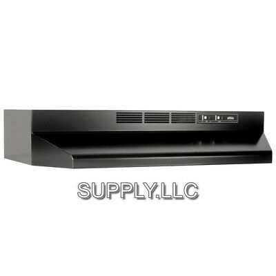 "BLACK OVER THE STOVE RANGE HOOD Ducted 30"" Exhaust Fan Kitchen Under Cabinet NEW"