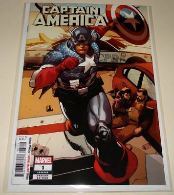 CAPTAIN AMERICA # 1 Marvel Comic (Oct 2018)  NM  2nd PRINTING VARIANT COVER