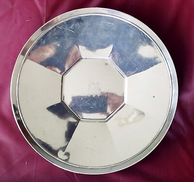 "1932 Art Deco Sterling Silver Gorham Fairfax 10"" Round Serving Plate Tray 322g"