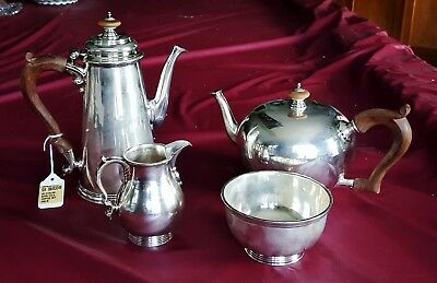 Exceptional Sterling Silver 4 Pc Tea Set Georg Jensen USA Spaulding Co 1787grams