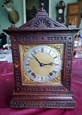Antique Winterhalder & Hofmeier Architectural 1/4 Strike Ting Tang Bracket Clock
