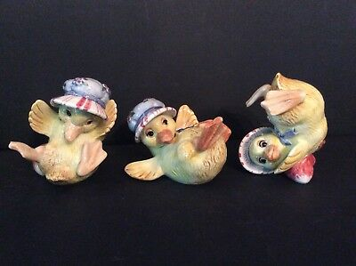 Fitz and Floyd Classics Somerset Tumblers Duck Figurines - Original Box