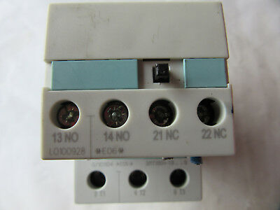 SIEMENS 3 POLE Contactor 3Rt1034-1Bb40 W/Surge Suppressor 3Rt1936