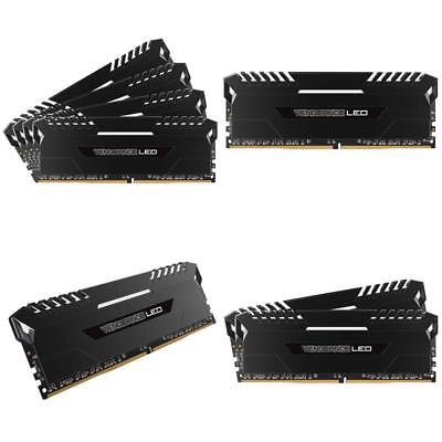 Corsair Vengeance Led 64Gb (4X16Gb) Ddr4 3200Mhz C16 Desktop Memory - White Led