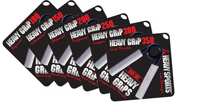 Heavy Grips | Hand Gripper | SET OF ALL 6 GRIPPERS | 100% AUTHENTIC | BEST VALUE