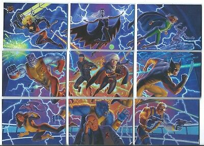 2018 Fleer Ultra X-Men 3X3 Connected Image Complete Set X9 With Lithograph