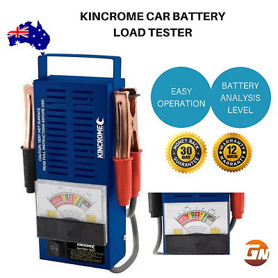Kincrome Car Battery Load Tester Volt Meter Analyzer  6 or 12V 100A Heavy Duty
