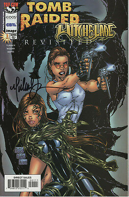 Tomb Raider/witchblade Revisited #1 Nm+ Direct Edtion Signed By Michael Turner