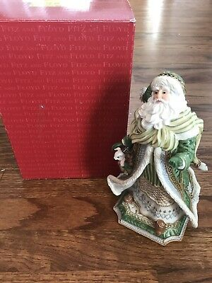 Fitz & Floyd Gregorian Collection Musical Santa Figure Plays White Christmas