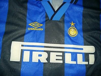 Inter Milan 1995 - 1996 #10 Ronaldo home shirt size Y (Youth)